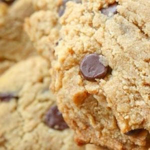 Peanut Butter Chocolate Chips Keto Cookies